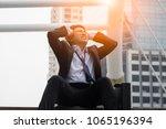 a portrait of a businessman... | Shutterstock . vector #1065196394
