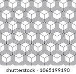 vector seamless geometric... | Shutterstock .eps vector #1065199190