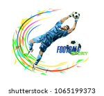 soccer player with a graphic... | Shutterstock .eps vector #1065199373