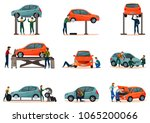 car service icons set with... | Shutterstock .eps vector #1065200066