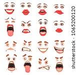 men women cute mouth lips eyes... | Shutterstock .eps vector #1065200120