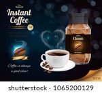 instant coffee advertisement... | Shutterstock .eps vector #1065200129