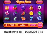 game ui slots. complete menu of ... | Shutterstock .eps vector #1065205748