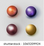 beautiful multi colored beads.... | Shutterstock .eps vector #1065209924