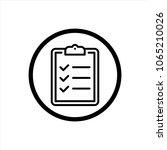 checklist icon in trendy flat...