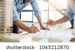 close up of person's engineer... | Shutterstock . vector #1065212870