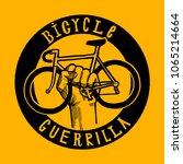 bicycle guerrilla sign of bike... | Shutterstock .eps vector #1065214664