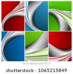 wavy backgrounds set   Shutterstock . vector #1065215849