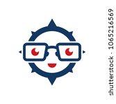 geek compass logo icon design | Shutterstock .eps vector #1065216569