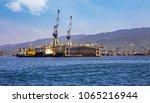 port blair dockyard at andaman... | Shutterstock . vector #1065216944