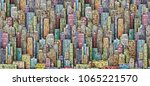 illustration with architecture  ... | Shutterstock . vector #1065221570