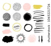blog design set with brush... | Shutterstock .eps vector #1065221726