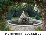 Romantic Fountain With A Statu...