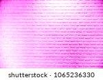 Brick Wall Pink Background Wit...