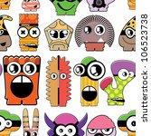 monster seamless | Shutterstock .eps vector #106523738