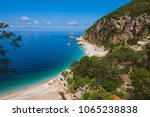 adriatic sea coast by sunny day ...   Shutterstock . vector #1065238838