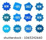 element design blue bubbles ...   Shutterstock .eps vector #1065242660