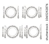 vector variations of cutlery... | Shutterstock .eps vector #1065242876