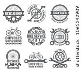 labels and sport logos set with ... | Shutterstock .eps vector #1065242909