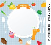 vector of menu design template...   Shutterstock .eps vector #1065242930