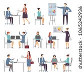 stylized business characters.... | Shutterstock .eps vector #1065242936