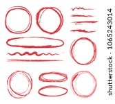 lines and circles to highlight. ... | Shutterstock .eps vector #1065243014