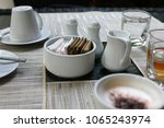 flavoring of coffee cup with... | Shutterstock . vector #1065243974