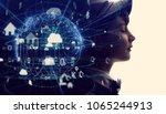 futuristic internet... | Shutterstock . vector #1065244913