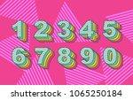vector of 80's retro folding... | Shutterstock .eps vector #1065250184