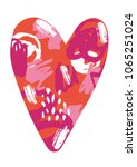 hand drawn heart design. vector ... | Shutterstock .eps vector #1065251024