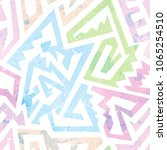 grunge geometric colorful... | Shutterstock .eps vector #1065254510