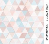pastel color geometric triangle ... | Shutterstock .eps vector #1065254534