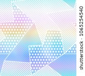 rainbow fabric seamless pattern | Shutterstock .eps vector #1065254540
