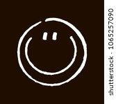 smiling chalk drawn smile...   Shutterstock .eps vector #1065257090
