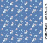 seamless pattern with cute...   Shutterstock .eps vector #1065260876