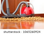 person cleaning carpet with... | Shutterstock . vector #1065260924