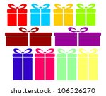 gifts collection | Shutterstock .eps vector #106526270