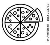 pizza icon vector | Shutterstock .eps vector #1065263783