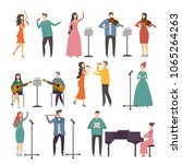concert and music groups. vocal ... | Shutterstock .eps vector #1065264263