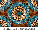 textile fashion african print... | Shutterstock .eps vector #1065266840