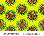 textile fashion african print... | Shutterstock .eps vector #1065266873