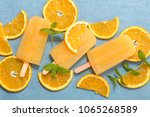 orange ice cream | Shutterstock . vector #1065268589