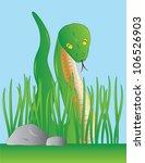 slithering green snake among... | Shutterstock . vector #106526903