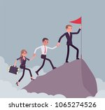 team of successful... | Shutterstock .eps vector #1065274526