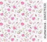 hand drawn seamless pattern... | Shutterstock . vector #1065275120