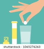 woman's hand putting... | Shutterstock .eps vector #1065276263