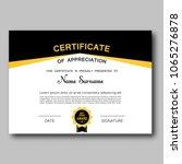 certificate of appreciation... | Shutterstock .eps vector #1065276878