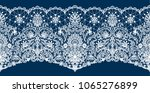 horizontally seamless dark blue ... | Shutterstock .eps vector #1065276899