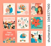happy mothers day. vector... | Shutterstock .eps vector #1065277400