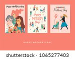 happy mothers day. vector... | Shutterstock .eps vector #1065277403